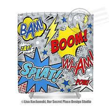 superhero shower curtain superhero bathroom decor superheroes bathroom comic book bathroom comic book shower curtain comic