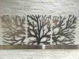 3 piece tree metal wall art