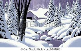 Snow Scene With Barn Image From An Original Painting By Larry
