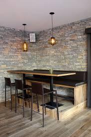 restaurant table top lighting. niche modern pod and minaret pendants over a table at gass 17 restaurant top lighting