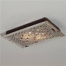 Reclaimed Vintage Iron Grate flush mount ceiling light - junky chic!