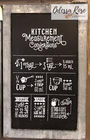 Chalkboard Sign Designs Odessa Rose Creates Chalk Couture Kitchen Measurements