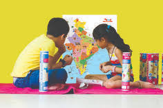 india map with reusable stickers educational toy for kids birthday gift return gift for 4 10 year olds