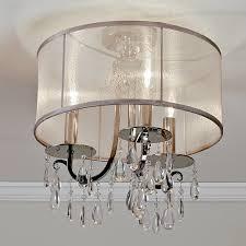 glam lighting. Modern Glam Shaded Crystal Ceiling Light - 3 Chrome Glam Lighting T