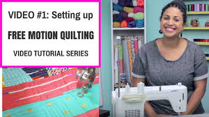 Free Motion Quilting Tutorial Series- Video #1: Setting up your ... & Free Motion Quilting Tutorial Series- Video #1: Setting up your sewing  machine - YouTube Adamdwight.com