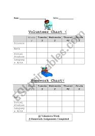 Completed Assignments Chart Homework Chart Esl Worksheet By Shanda Castillo