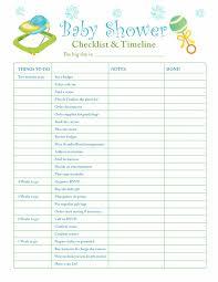 Baby Supplies Checklist Baby Shower Decoration Checklist Baby Shower Supplies