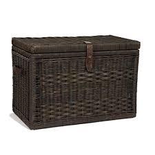 large wicker storage trunk.  Trunk The Basket Lady Wicker Storage Trunk  Chest Large  30u0026quot L For C