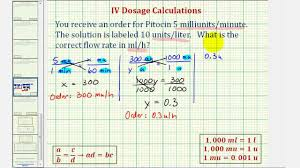 Ex 2 Iv Dosage Calculation Flow Rate Requiring Three Steps