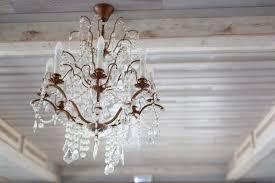 crystal vintage chandelier wood light ceiling