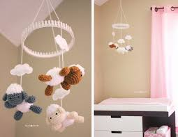 baby girl nursery diy decorating ideas repeat crafter me crochet lamb mobile doesnt exactly go with