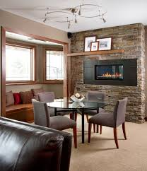 view in gallery floating shelf above the fireplace for a simple display