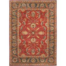 john rust red 8 ft x 11 ft area rug