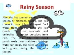 essay on rainy season rainy season english essay my favourite season monsoon essay