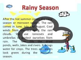 essay on rainy season rainy season english essay my favourite season monsoon essay