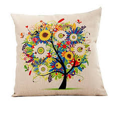 colorful throw pillows. Modren Colorful 18u0027u0027X 18u0027u0027 Pastoral Style Tree Of Life Cotton Linen Decorative Throw Pillow  Cover Cushion Case Colorful For Colorful Pillows O