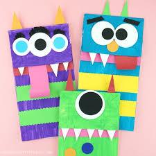 Paper Bag Monster Puppets