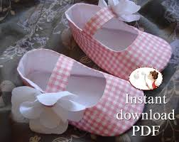 Baby Booties Sewing Pattern Delectable Easy Baby Shoes Sewing Pattern PDF Printable Tutorial Etsy
