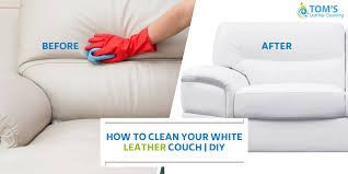 how to clean white leather couch