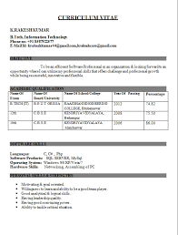Fresher Resumes Format Beautiful Resume Format For Freshers