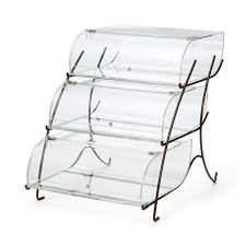 bakery case 3 tier with bronze wire frame bk023