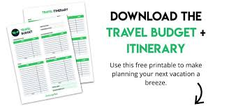 travel budget worksheet how to make a travel budget for a stress free vacation