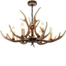 antler light fixture brown antler chandeliers bedroom lighting resin candle re for living room modern ceiling