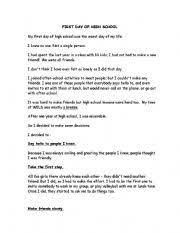 descriptive essay first day high school the hindu my first day in school