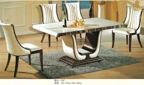 chairs marble dining table set luxury italian style furniture