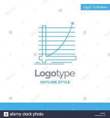 Blue Logo Design For Arrow Chart Curve Experience Goal