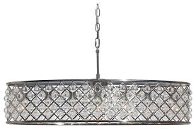cassiel 30 inch oval crystal chandelier brushed nickel finish