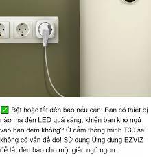 Ổ cắm điện thông minh EZVIZ T30-10B-EU điều khiển bằng giọng nói theo dõi  điện năng an toàn tuyệt đối