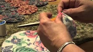 How To Make and Connect Basic Fabric Yo-Yo's - YouTube &  Adamdwight.com