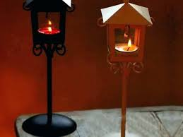 extra large lantern rustic wood iron candle holder tall wedding