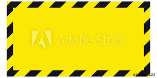 Black And Yellow Stripes Border Black And Yellow Warning Line Striped Rectangular Background Yellow