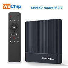Original Wechip V9 Android 9.0 TV BOX Amlogic S905X3 DDR3 4GB RMB 2.4G/5G  Wifi Bluetooth 4.0 Set Top Box YouTube 1080P HD Player|Set-top Boxes