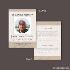 Memorial Card Template Funeral Program Template Funeral Card Template Funeral Etsy