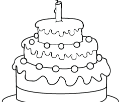 Cake Coloring Page Birthday Cake Coloring Page With No Candles A
