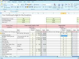 Wedding Budget Excel Spreadsheet Template Growinggarden Info