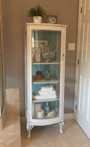 interior white corner curioet with glass doors modern kings furniture bookcase small wall distressed white curio
