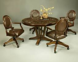 table and chairs with casters furniture kitchen chair with wheels set chairs table sets casters leather