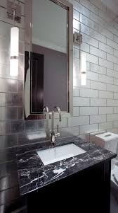 Mirrored Subway Tile Bathroom Transitional With Ann Sacks Bathrrom