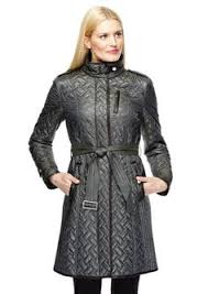 Cole Haan Women's Belted Signature Quilted Coat, Dusty Olive ... & COLE HAAN Funnel Collar Quilted Coat Adamdwight.com