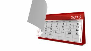 2013 Desk Calendar Animation Stock Footage Video 100 Royalty
