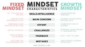 Fixed Vs Growth Mindset Chart The Growth Mindset Matrix Train Ugly