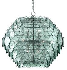 recycled glass chandelier by and chandeliers south emery chandelie
