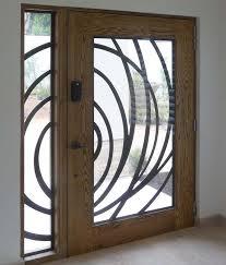 front door glass pattern swirl