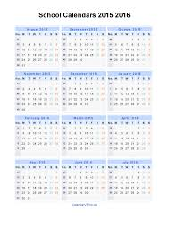 School Calendar 2015 2019 Template School Calendars 2015 2016 Calendar From August 2015 To July 2016