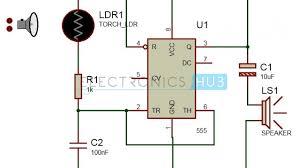 Light Alarm Circuit With Ldr Screaming Siren Lights Circuit Light Activated Alarm Circuit