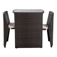 picture of outdoor patio furniture seat 3 pcs brown